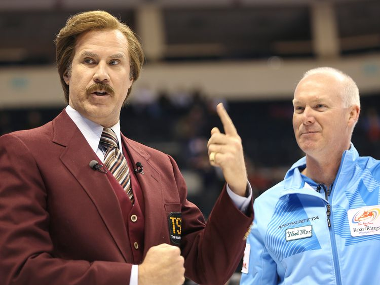 The actor was at an event in character as Ron Burgundy before the crash. File pic