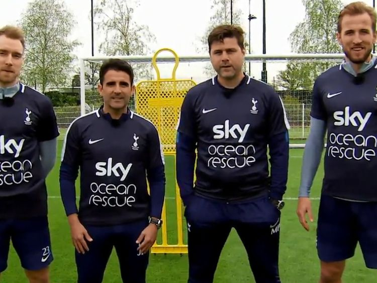 Tottenham players Harry Kane and Christian Eriksen take on their boss in a special challenge.