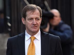 LONDON, ENGLAND - NOVEMBER 30: Tony Blair's former director of communication Alastair Campbell arrives to give evidence to The Leveson Inquiry at The Royal Courts of Justice on November 30, 2011 in London, England.