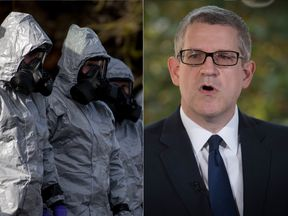 MI5 boss Andrew Parker and people investigating the Salisbury poisoning