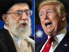 Ayatollah Ali Khamenei and Donald Trump