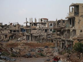 The rebel-held areas of Daraa have been devastated by government shelling
