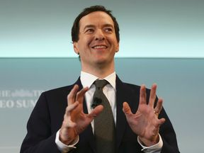 LONDON, ENGLAND - JUNE 28: Britain's Chancellor of the Exchequer, George Osborne, speaks at The Times CEO summit on June 28, 2016 in London, England. (Photo by Neil Hall - WPA Pool/Getty Images)