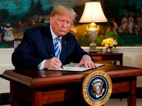 Mr Trump has withdrawn the US from the nuclear accord