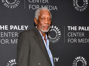Morgan Freeman at an event in autumn 2017