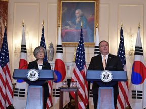 US Secretary of State Mike Pompeo and South Korea's Foreign Minister Kang Kyung-wha