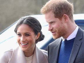 Prince Harry and Meghan Markle visit the Eikon Centre and attend an event to mark the second year of the youth-led peace-building initiative 'Amazing the Space' on March 23, 2018 in Lisburn, Nothern Ireland.