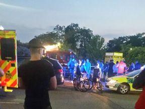 Scene of collision in Manchester. Pic: Paul Warburton