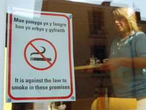 It will be illegal to smoke outside a hospital, school or playground in Wales by summer 2019