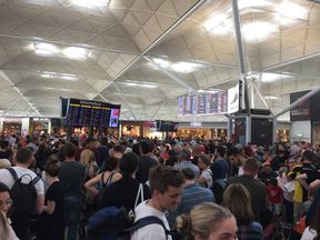 Delays have affected flights on Sunday morning. Pic: Thadie