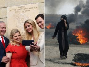 The Netanyahus and Kushners celebrated while dozens of Gazans died