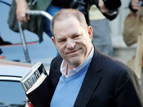 Film producer Harvey Weinstein arrives at the 1st Precinct in Manhattan in New York, U.S., May 25, 2018. REUTERS/Mike Segar