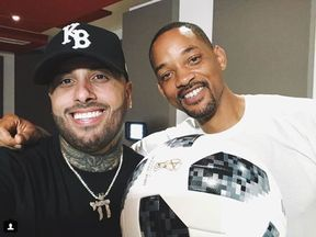Will Smith posted this picture of him with Nicky Jam on Tuesday. Pic: Will Smith/Instagram