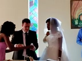 Jamie Fox and Zanele Ndlovu's wedding in Zimbabwe. Pic: stanford chiwanga