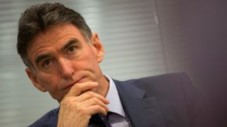 Royal Bank of Scotland chief executive Ross McEwan speaks during an interview with Reuters at Canary Wharf in London, Britain July 7, 2015