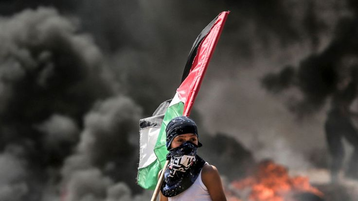 Palestinians were killed on the Gaza border on Monday as they protested against the opening of the US embassy