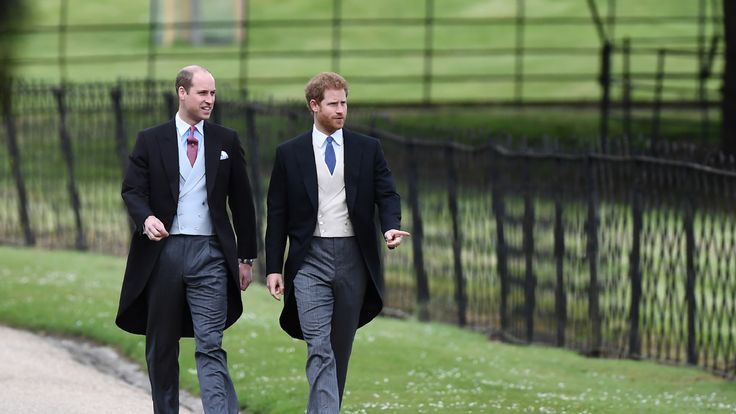 ritain's Prince Harry (R) and Britain's Prince William, Duke of Cambridge attend the wedding of Pippa Middleton and James Matthews at St Mark's Church on May 20, 2017 in Englefield Green, England. (Photo by Justin Tallis - WPA Pool/Getty Images)