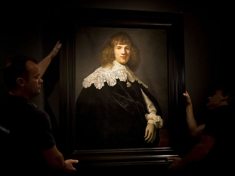 'Portrait of a Young Gentleman' by Rembrandt van Rijn in The Hermitage Museum, Amsterdam