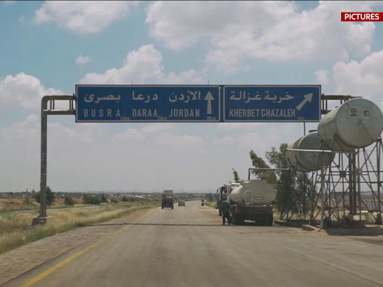 The city is on the road through Syria to Jordan