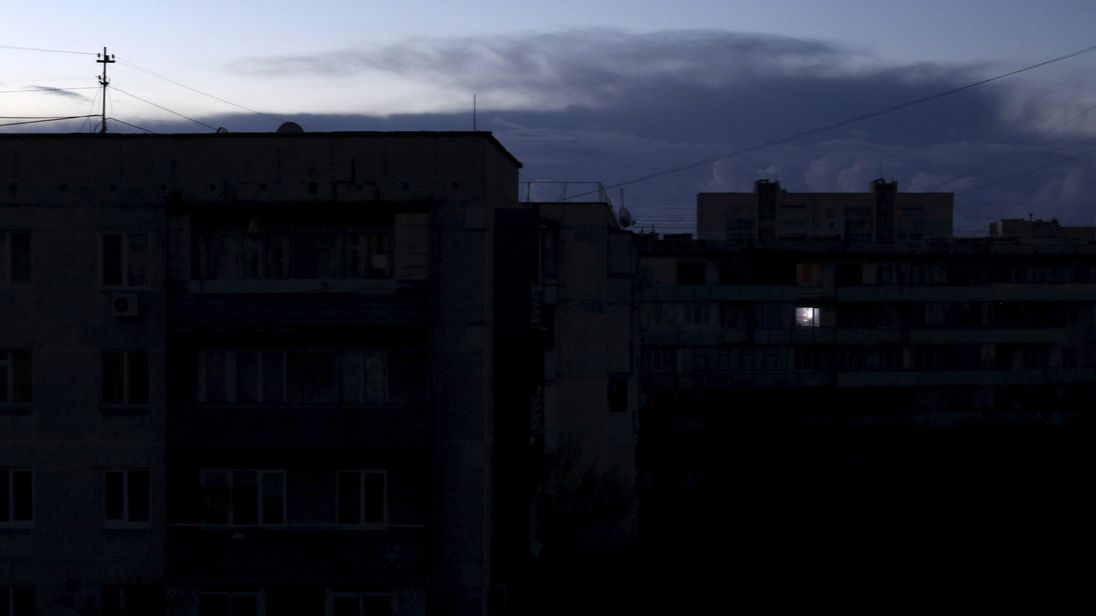 Crimea during a previous blackout