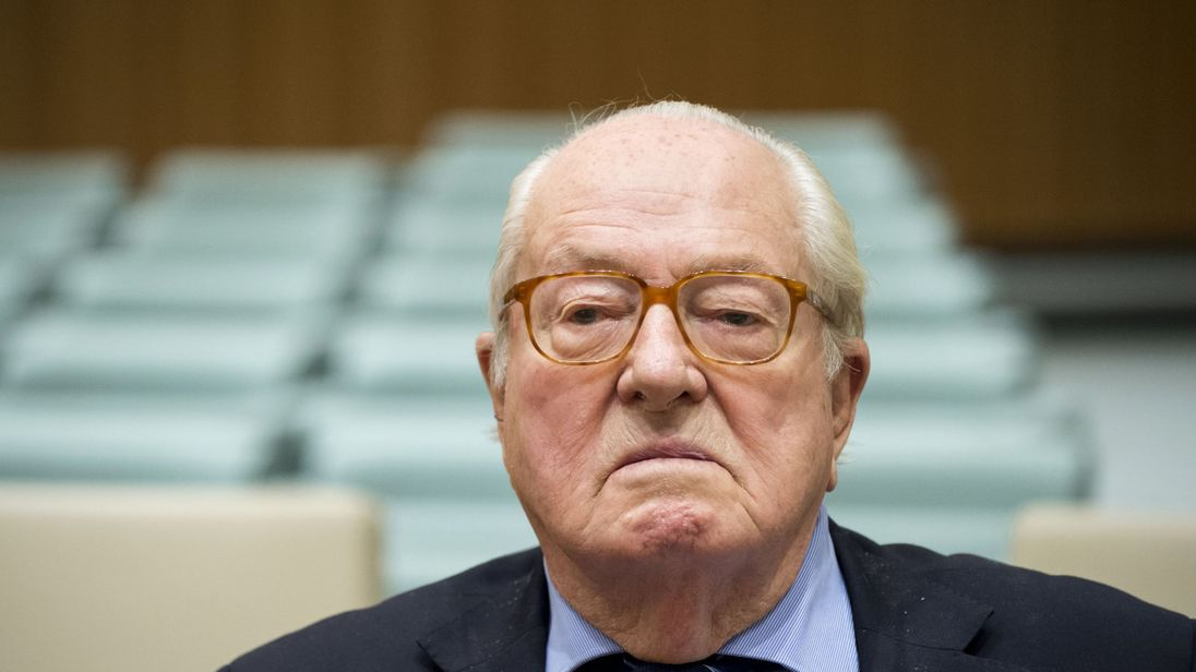 Jean-Marie Le Pen has been hospitalised on the day of his trial for hate speech