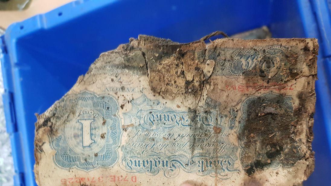 Old money. Pic: Sussex police/ Joel Adams