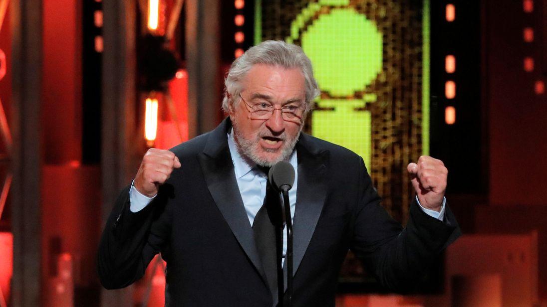 De Niro at the Tony Awards where he slammed Donald Trump