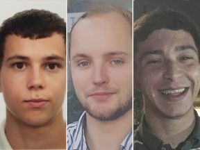 L-R: Alberto Carrasco; Harrison Scott-Hood, Jack Gilbert. Pic: British Transport Police