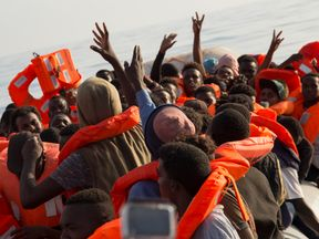 Migrants rescued in Mediterranean