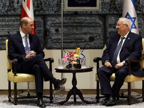 Prince William with President Reuven Rivlin