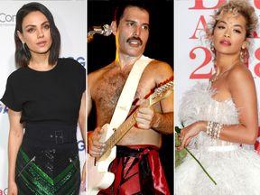 Mila Kunis, Freddie Mercury and Rita Ora