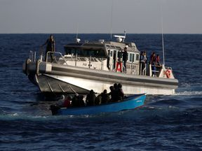 Human traffickers use Tunisia as a launch pad for migrants heading to Europe. File pic