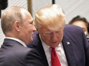 President Putin and President Trump in Vietnam in November 2017
