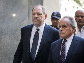 NEW YORK, NY - JUNE 5: Harvey Weinstein and attorney Benjamin Brafman arrive at State Supreme Court, June 5, 2018 in New York City