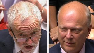 Jeremy Corbyn has a dig at Chris Grayling