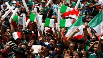 Soccer Football - FIFA World Cup - Group F - Germany v Mexico - Mexico City, Mexico - June 17, 2018 - Mexican fans celebrate at the Zocalo square