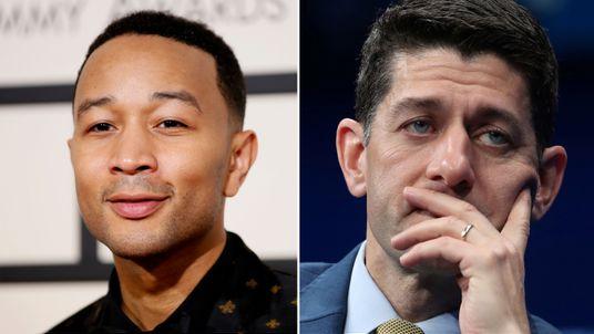 John Legend and Paul Ryan