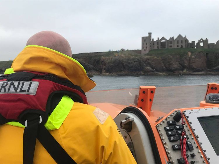 A lifeboat crew went to the man's aid: Pic: Peterhead Lifeboat