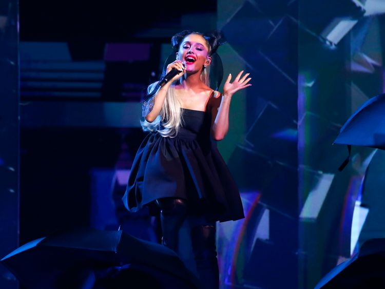 Ariana Grande performs No Tears Left To Cry