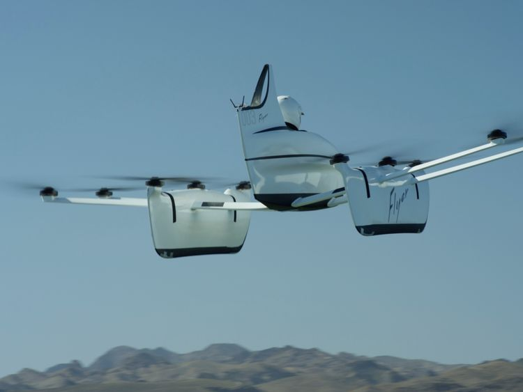 No price has been specified for the flying car. Pic: Flyer