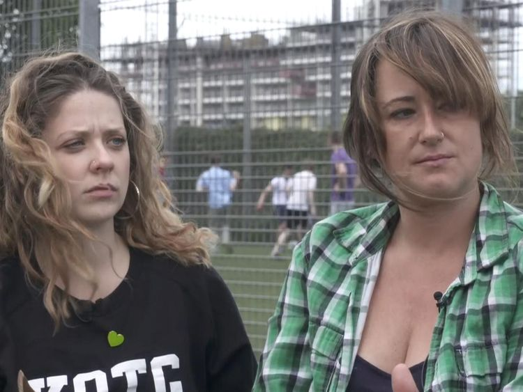 Michelle Widdrington and Zoe Levack said the community was still coming to terms with the atrocity