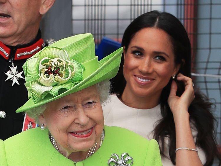 Queen Elizabeth II and the Duchess of Sussex