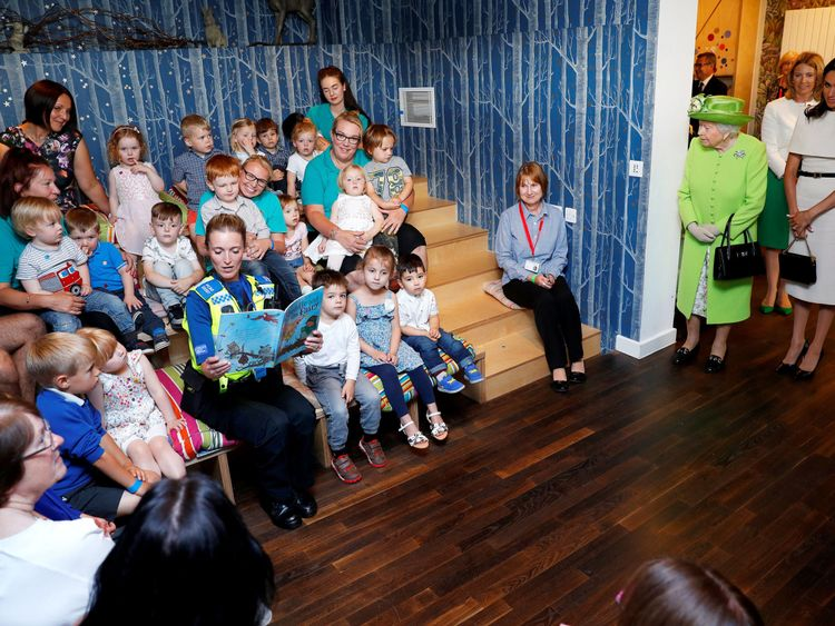 Queen Elizabeth II and the Duchess of Sussex visit Storyhouse Chester, where they will be taken on a tour of the building before unveiling a plaque to mark the official opening