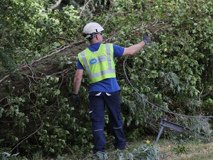 Unusually strong winds of 50-70mph battered the whole of the island overnight
