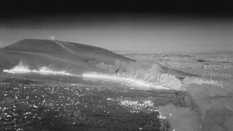 Thermal imaging picture from the Winter Hill fire. Pic: Lancashire Fire and Rescue