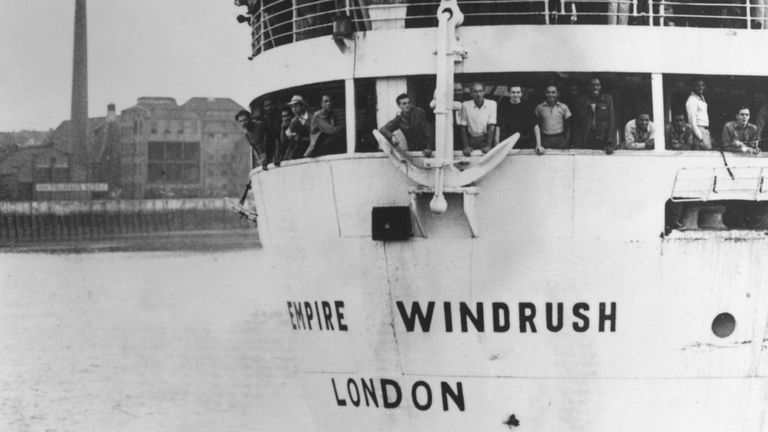 The HMT Empire Windrush brought 492 workers to the UK from the Caribbean in 1948.