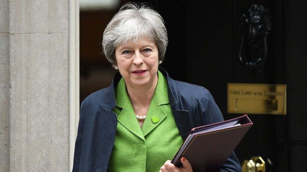 LONDON, ENGLAND - JUNE 12: Prime Minister Theresa May leaves 10 Downing Street following a cabinet meeting on June 12, 2018 in London, England. (Photo by Chris J Ratcliffe/Getty Images)
