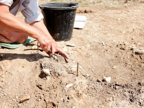 Stock photo of archaeological dig