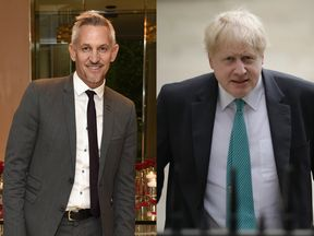 Gary Lineker (left) and Boris Johnson have clashed