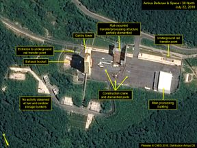 The satellite images suggest the site is being decommissioned Pic: Digital Globe/38 North